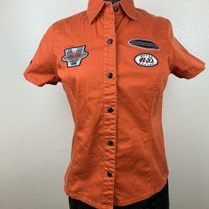Harley Davidson orange short sleeve